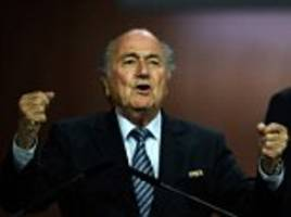 Sepp Blatter blames English media and US justice authorities for trying to oust him after being re-elected as FIFA president