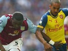 Arsenal 0-0 Aston Villa FA Cup Final 2015 LIVE score: Theo Walcott starts up front for Gunners at Wembley
