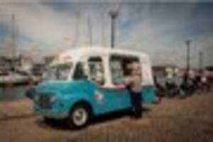 rare 1962 ice cream van will serve shoppers in plymouth