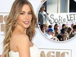 Sofia Vergara faced with 'pro-life protesters' at Magic Mike XXL premiere