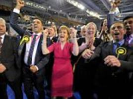 Nicola Sturgeon is named Britain's most powerful woman - despite missing out on the chance to pull Prime Minister Miliband's strings
