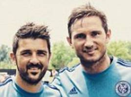 Frank Lampard marks first New York City training session with Instagram snap alongside team-mate David Villa