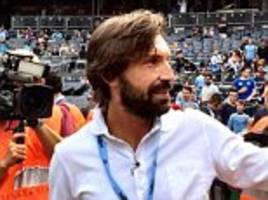 New York City post Andrea Pirlo's player profile on club website... before swiftly deleting it just minutes later
