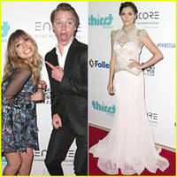 calum worthy jokes around with jennette mccurdy at thirst gala 2015