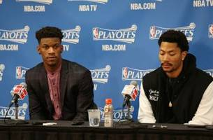 jimmy butler on derrick rose: 'i don't think we have any issues'