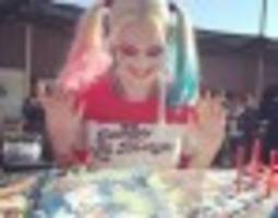 Margot Robbie Celebrates Her Birthday As Harley Quinn On The Set Of 'Suicide Squad'