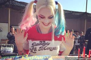 Margot Robbie Gets Harley Quinn Birthday Cake From 'Suicide Squad' Castmates
