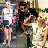 kaley cuoco & ryan sweeting get messy before independence day