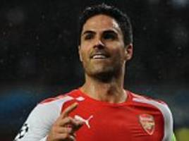 Arsenal captain Mikel Arteta pens new one-year deal as Arsene Wenger looks set to abandon plans to buy a defensive midfielder