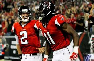 Las Vegas oddsmakers expect the Falcons to finish above .500