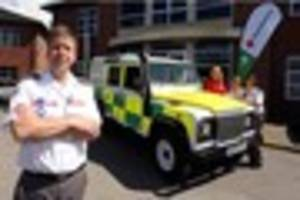 nottinghamshire red cross takes delivery of 4x4 to help...