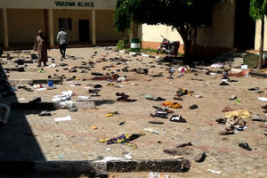 Bomb blamed on Boko Haram kills dozens in university town