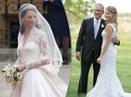 most iconic wedding dresses including kate middleton's gown and jenna bush's dress
