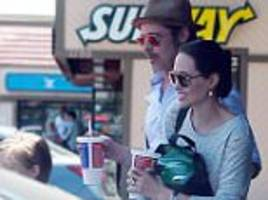 angelina jolie and brad pitt stop at subway on knox and vivienne's 7th birthday