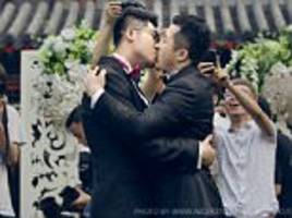 chinese gay wedding that captivated the nation from police threats to 'doctors'