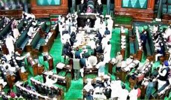 BJP MPs hold protest against CMs of Congress-ruled states accused of corruption