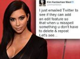 Kim Kardashian pitches editing feature for Twitter