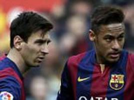 neymar insists he is not trying to surpass lionel messi and is focusing on own game