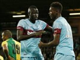 Norwich 0-1 West Ham: Hammers leave it late to grab pre-season win at Carrow Road