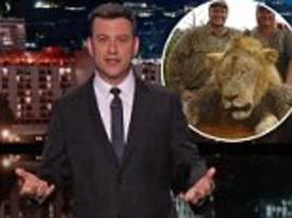 Jimmy Kimmel breaks down on Tonight Show over Cecil the lion killed by Dr Walter Palmer