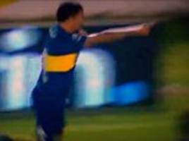 carlos tevez scores first boca juniors goal since returning to argentina from juventus