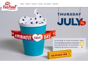 Have A Blizzard, Help A Child On Miracle Treat Day In Lansdale