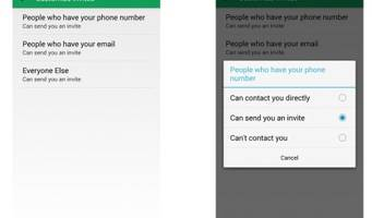 Google Hangouts gives users more control over how they're contacted by others