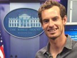 Andy Murray pays visit to the White House ahead of ATP Citi Open appearance in Washington on Monday