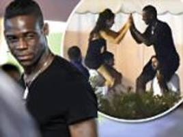 Mario Balotelli shrugs off career worries as he parties back in Italy