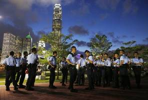 Hong Kong protest after woman jailed for 'maliciously' assaulting police officer with her breast