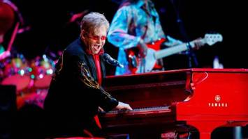 elton john's red piano sited at mcevoy ranch