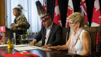 Ontario government signs political accord with First Nations Chiefs