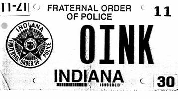 Indiana Supreme Court hears dispute over '0INK' plate