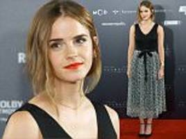 Emma Watson works the red carpet at Regression premiere in Madrid