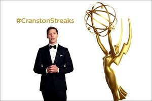 andy samberg predicts bryan cranston surprise in new emmy awards promo