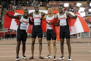 Dramatic bronze for 4x100 relay team caps big day for Canada at track worlds