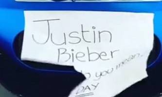 Justin Bieber's Frozen Blue Ferrari 458 Sounds Better than His What Do You Mean Single - Video