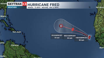 Hurricane Fred forms in the Atlantic