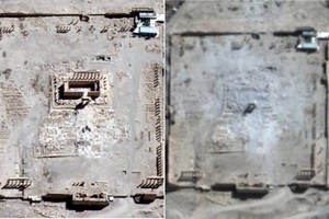 Satellite images confirm ISIS destroyed ancient temple in Palmyra