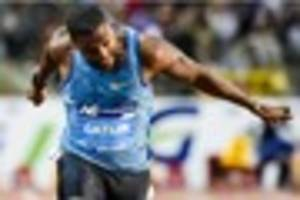 justin gatlin claims 100m diamond league with win in brussels