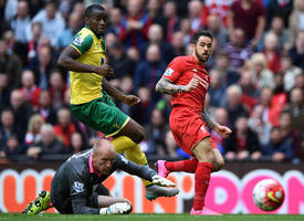 epl: norwich frustrate liverpool to settle with 1-1 draw