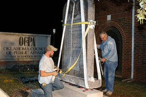 Ten Commandments monument removed from Oklahoma Capitol