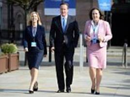 'I didn't get into Parliament to be a bit of f***ing arm candy': Female Tory MPs' complaints after being made to walk alongside Cameron at party conference
