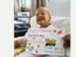Toddler's rare  eye cancer leads Walsall family to warn of early...