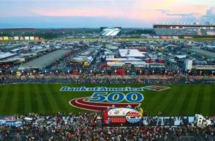 Good news, race fans: Bank of America 500 is on for today