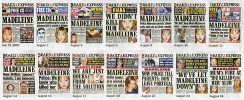 madeleine mccann: 4 police, google gold and front-page news