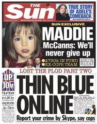 madeleine mccann: nothing shelved, four at work and the sun hacks the police