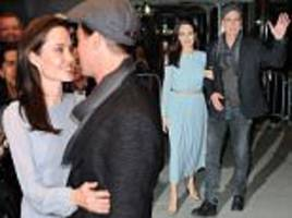 angelina jolie and brad pitt go smart-casual to by the sea screening