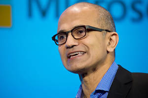 satya nadella uses personal phone to iterate microsoft's productivity