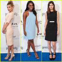 hailey baldwin & alexandra daddario support generosity.org at 'night of generosity' gala